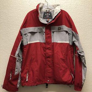 686 Men's Women's Medium Red Gray Snowboard Ski Jacket Unisex