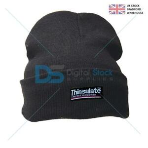 Thinsulate Beenie Knitted Hat Heat Trap Thermal Work Head Gear Mens