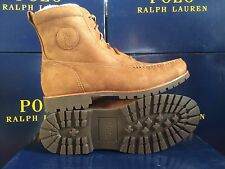 NIB POLO RALPH LAUREN RODWAY NUBUCK WHEAT ANKLE HIKING BOOTS LEATHER LACES 12D