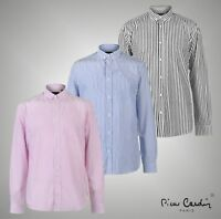 Mens Designer Pierre Cardin Long Sleeves Bold Stripe Shirt Sizes from S to XXL
