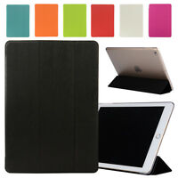 Luxury Slim Flip Leather +PC Wake Asleep Stand Case For New Apple iPad 9.7 2017