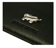BRAUN BUFFEL Leather Black Calf Card Holder (retail £75)