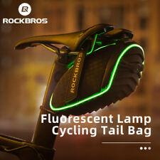 ROCKBROS Bike Saddle Light Bag Cycling Saddle 3D Shell Rear Bag With Rain Cover