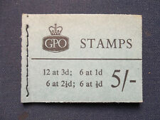 H41 novembre 1959 COMPLET 5/- Wilding GREAT BRITAIN STAMP BOOKLET rare