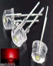LED 8mm ... ultra ROT ... 0,5W 150mA Straw Hat ... 20 - Stück