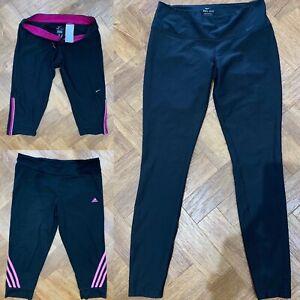 Ladies Running Gym Workout Yoga Leggings Bundle Medium 12 14 Nike Adidas