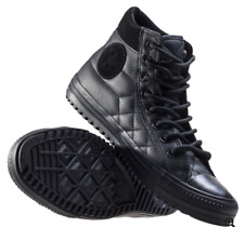 Converse CTAS Quilted Leather Boot PC HI Black Mens 11