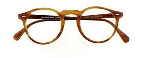 OLIVER PEOPLES OV5186 1011 Gregory Peck 47mm Brown Eyeglasses Frames Only Italy