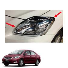For Toyota Vios Yaris Sedan Belta 2010 - 12 13 Head Lamp Light Cover Chrome Trim