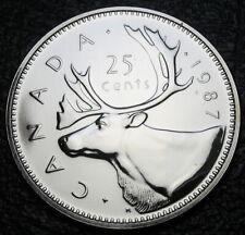 RCM - 1987 - 25-cents - Caribou - Specimen - Uncirculated