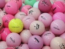 50 Near Mint Lady Solid Color Assorted Mix AAAA Used Golf Balls