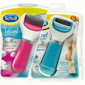 New Pink/Blue  Scholl Velvet Smooth Pedi Electric Foot File Hard Skin Remover