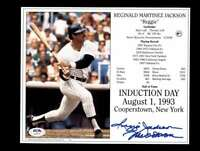 Reggie Jackson PSA DNA Coa Hand Signed 8x10 Photo Autograph