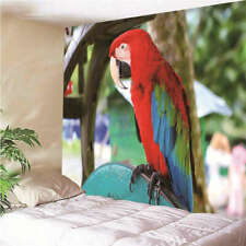 Smart colorful parrot 3D Wall Hang Cloth Tapestry Fabric Decorations Decor