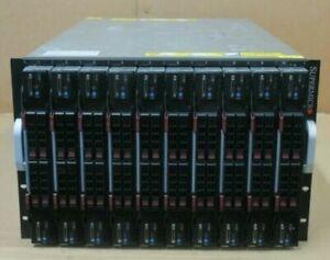 Supermicro SuperBlade SBE-720E-R75 10 Blade Servers 40x XEON 480GB Memory