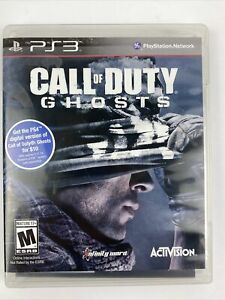 Call of Duty: Ghosts (PlayStation 3, 2013) PS3 COMPLETE CIB Tested