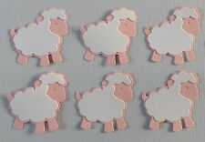 Sheep Die Cuts.   Sets of 6.  Pretty in Pink & White.  See other Colors.  NEW.