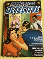 Exciting Detective Winter 1942 Pulp Chain of Murders Treason in Numbers