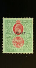 SIERRA  LEONE  137  Very  Nice  MInt  No  Gum  10/-  SPECIMEN  GEORGE V  UT 11
