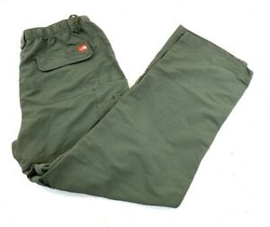 Mens The North Face Convertible Pants Hiking Dark Green Moss Size Large