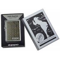 ZIPPO Goldener Strang Gold Leaf Design Replica 1935  Feuerzeug - 60005042