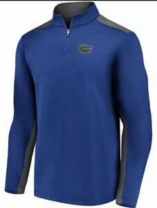Fanatics Men's Florida Gators Football Primary Logo 1/4 Zip Jacket Medium M