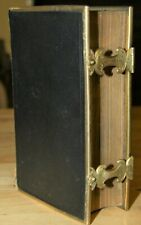 Antique 1851 Common Prayer and New Testament Holy Bible BRASS EDGING & CLASPS