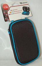 NEW Subsonic Nintendo 3DS DSI Soft 6x4 Zipper Bag Case BLACK & BLUE ds-lite dsl