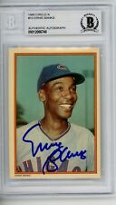 Ernie Banks 1985 Circle K Topps #10 Signed Autographed Card Beckett BAS