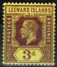 Lightly Hinged Single Leeward Islands Stamps