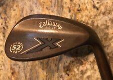 "RH Callaway X-Forged 52° Sand Wedge Steel Memphis ""10"" Uni-Flex Logo Grip"