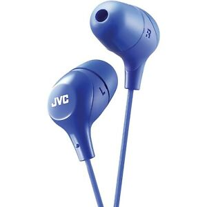 """JVC-HAFX38 """"Marshmallow"""" In-Ear Headphones (Assorted Colors) BRAND NEW RETAIL"""