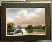 VIntage watercolor Douglas Haddow, listed artist 13 x 18