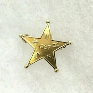 Antique (1937) Pre-Owned 10K Solid Yellow Gold Star Pin/Brooch 2.2 Gr