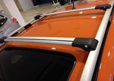 VW Touareg 2002-2010 barras de techo Antirrobo De Aluminio Riel Rack + barras cruzadas Gris