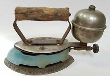 Depression Era Coleman Iron Instant Lite Gas Model 4A Blue Farm Rustic Worn