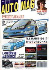 AUTOMAG n°1 de novembre 1988 : Peugeot Renault années choc - Prost - Schlesser