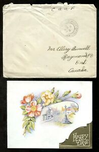 p621 - Canada Military WW2 FPO 1943 Cover with Card to Raymond Ontario