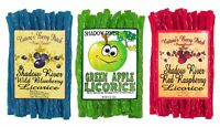 Shadow River Gourmet Licorice Candy 3 Pack - Blueberry, Green Apple, Raspberry