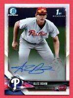 2018 Bowman Chrome Draft Alec Bohm Autograph Auto Phillies Rookie Card RC