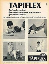 PUBLICITE ADVERTISING 124  1960  TAPIFLEX SOMMER 2   moquette tapis