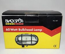 BULKHEAD LIGHT LAMP BLACKSPUR OUTDOOR WALL GARDEN EXTERIOR SECURITY BLACK 60W
