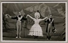 Vintage Postcard - Lady and two gentleman on stage acting in a play/musical
