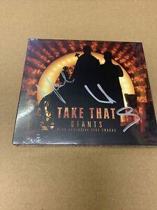 TAKE THAT GIANTS + LIVE TRACKS - SIGNED . 4 TRACK SINGLE CD