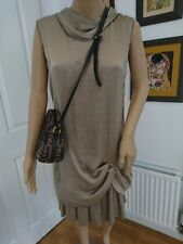 Alan Red authentic made in Italy brown jersey  mocca dress S 8-10