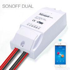 Sonoff Dual-ITEAD WiFi Wireless Smart Switch Module ABS Shell Socket Fr DIY Home