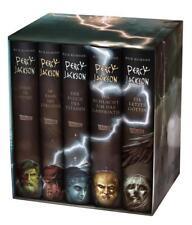 5 Percy Jackson Bücher gebunden - Schuber + E-Book Kane-Chroniken Band 1 NEU OVP