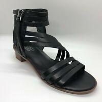 Franco Sarto Elma Women's Sandal Leather Black Shoes Size 7.5 M
