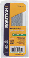 "Bostitch FN1524-1M ""FN"" Style Angled Finish Nails, 1-1/2"", 15 Gauge, 1000-Pack"