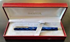 Sheaffer 284 Fashion Gloss Blue Fountain Pen Fine Pt & Converter New In Box